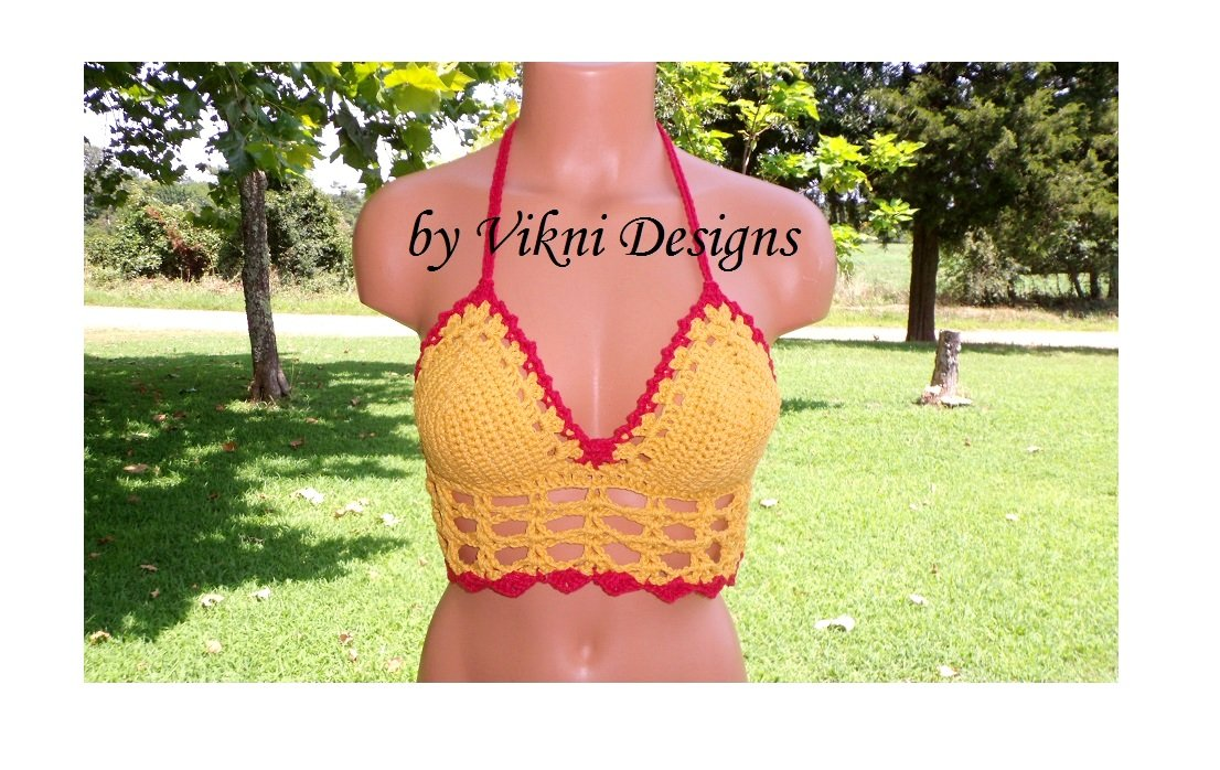 Hippie Cage Crop Top by Vikni Crochet Designs