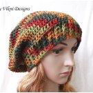 Slouchy Crochet Hat Beanie, Autumn Slouchy Hat by Vikni Crochet Designs