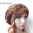 Autumn Slouchy Crochet Hat by Vikni Crochet Designs