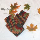 Autumn Finger less Gloves, Crochet Gloves by Vikni Designs