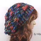 Crochet Slouchy Crochet Hat Beanie in Earthy by Vikni Crochet Designs