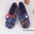 Earthy Crochet Slippers, Women's Indoor House Shoes by Vikni