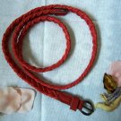 Woven braided belt - width 0.4inch Red