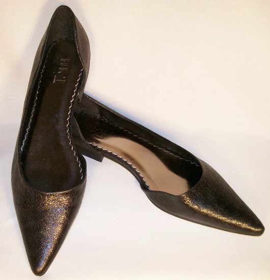 Rouge brand black flats 80' s style size 8