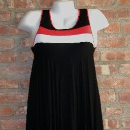 OutFitKit mod red black white sporty jumper dress with accessories