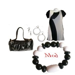 OutFitKit Mod gray black white block tunic with accessories
