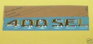 """GENUINE Mercedes """"400SEL"""" Trunk Emblem Badge 1408170915"""