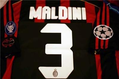 Jerseyunited AC Milan Maldini Champions League Home Jersey