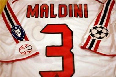 Jerseyunited AC Milan Maldini Champions League AWAY Jersey