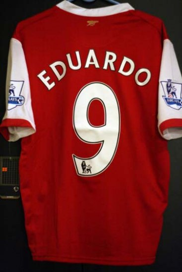 NEW Arsenal Eduardo 9 Home Jersey