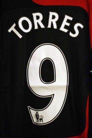 NEW Liverpool 2007/2008 Torres AWAY Jersey