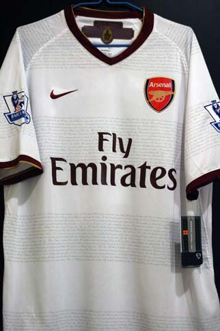 Arsenal 07/08 Eduardo AWAY jersey