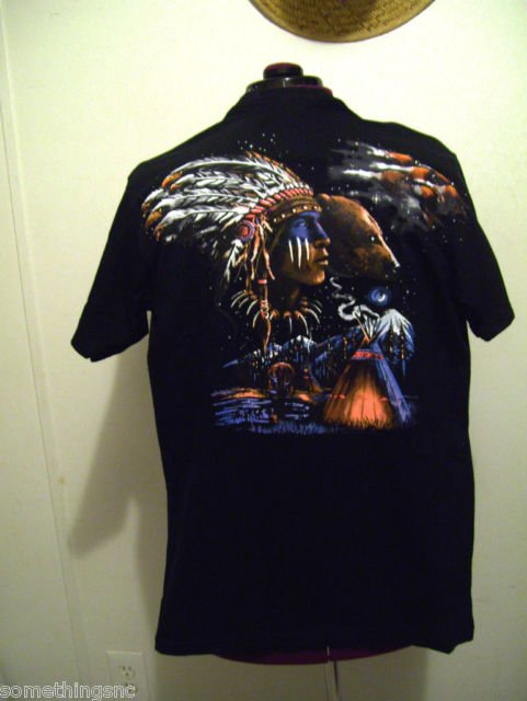 T Shirt .... Indians and Bears... Black M