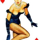 "8 of Hearts Pin Up playing card  8.5""x11"" ***FREE SHIPPING"
