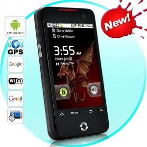 3.2 Inch Touchscreen Dual SIM Android 2.2 Smart phone JXP9ALWIHT WIFI quad band unlocked