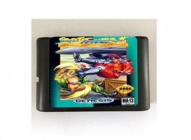 Street Fighter II Special Champion Edition 16-Bit Sega Genesis Mega Drive Game Reproduction (Works)