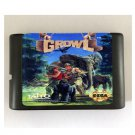 Growl 16-Bit Sega Genesis Game Reproduction NTSC Only (Tested & Working)