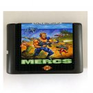 Mercs 16-Bit Sega Genesis Mega Drive Game Reproduction (Tested & Working)