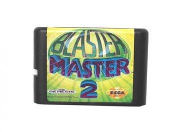 Blaster Master 2 16-Bit Sega Genesis Mega Drive Game Reproduction (Tested & Working)