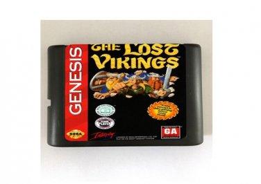 The Lost Vikings 16-Bit Sega Genesis Mega Drive Game Reproduction (Tested & Working)