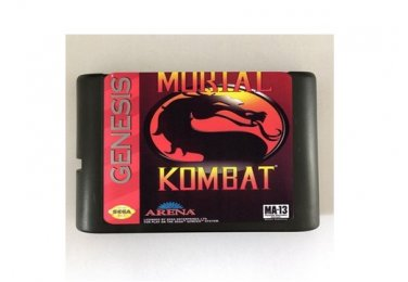 Mortal Kombat 16-Bit Sega Genesis Mega Drive Game Reproduction (Tested & Working)