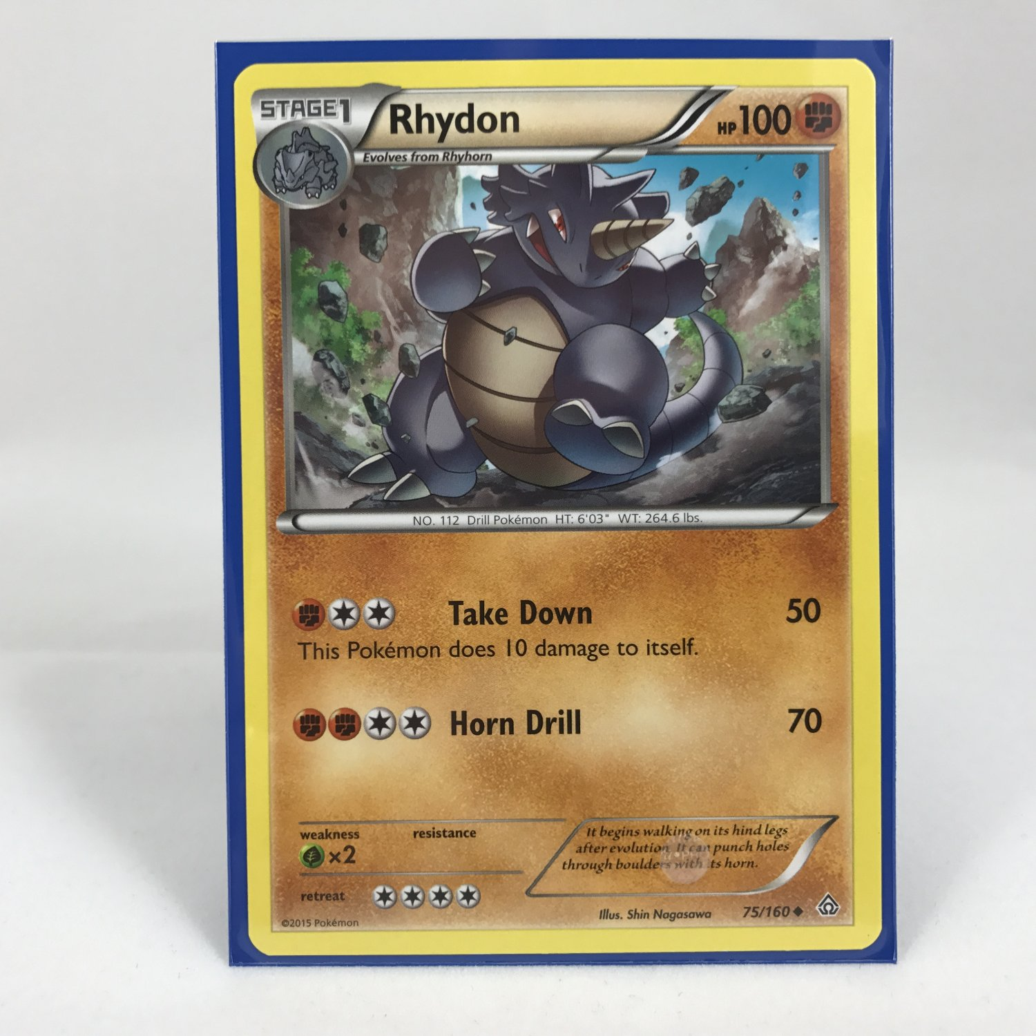 Pokemon Stage 1 Rhydon 75/160 Card MINT