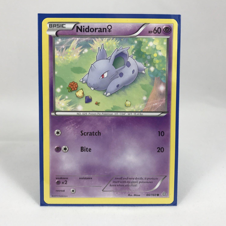 Pokemon Basic Nidoran 66/160 Card MINT