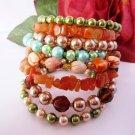 Citrine Beaded Bracelet, Gemstone Chip Bracelet, Stacked Bracelet