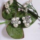 Bridal Pearl Cluster Earrings