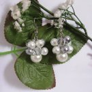 Bridal Pearl Cluster Earrings