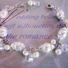 Dainty Cluster Pearl Bridal Bracelet, Wedding Bracelet, Pearl and Crystal Bridal Bracelet, Ivory