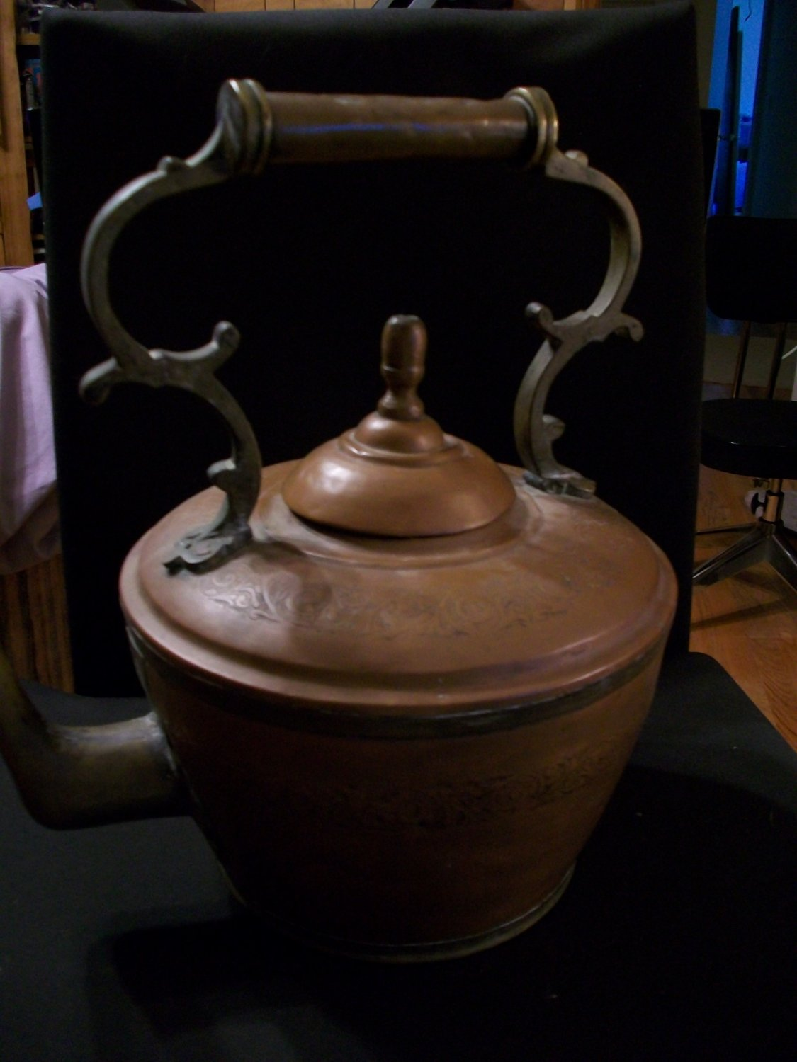 Antique Brass and Copper Kettle