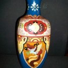 "12 "" Enameled over copper vase"