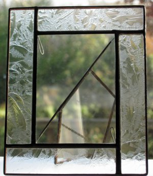 Leaded Embossed Clear Glass Hand Crafted Picture Frame
