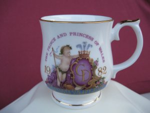 Prince Charles Diana Princess Wales 1982 William Birth Commemorative Cup