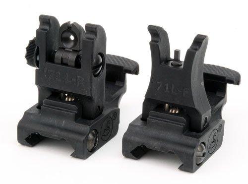 A.R.M.S. #71L ARMS Polymer Front & Rear Flip-up Sight SET (Black)