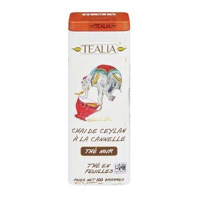Tealia Loose Tea in Tin, Ceylon Cinnamon Chai, 100 g Product of Sri Lanka