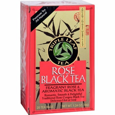 Triple Leaf Teas Rose Black Tea (20 Tea Bags)