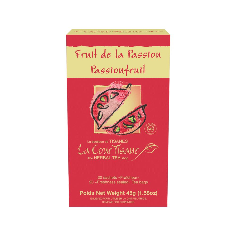 La CourTisane Herbal tea Passion fruit 20 tea bags