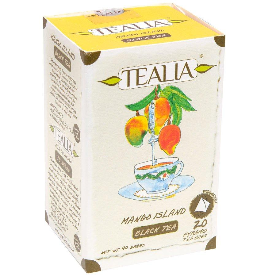 Tealia Herbal Tea Mango Island 20 Pyramid Tea Bags Product of Sri Lanka ON SALE