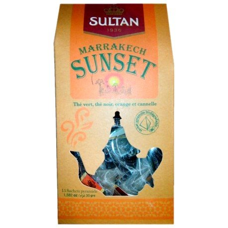 Sunset Marrakech Tea Herbal Moroccan Tea 15 tea bags Sultan 1936