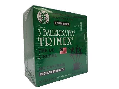 3 Ballerina Tea - Weight Loss Dieters Tea Trimex drink regular strength 30 tea bags
