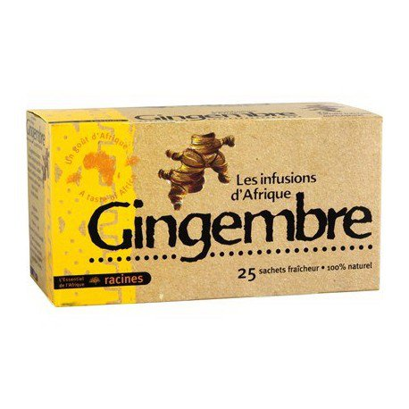 Les Infusions d'Afrique Ginger Tea 25 tea bags African Herbal Tea