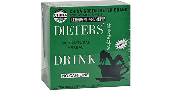 Legends of China, Weight Loss Dieter's 100% Natural Herbal Drink, No Caffeine, 30 units 2.12oz