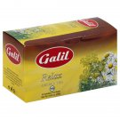 Galil Tea, Relax, 16 tea bags, 0.84 oz Herbal Tea Caffeine Free Kosher Tea