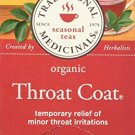 Traditional Medicinals, Organic Throat Coat 20 Wrapped Tea Bags (30 g)