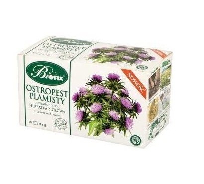BIFIX Bi Fix Ostropest Plamisty Suplement Diety Milk Thistle Herbal Tea