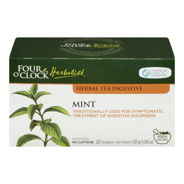 Four O'Clock Herboriste Mint Tea - Herbal Tea for Digestion