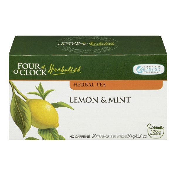 Four O'Clock Herboriste Lemon & Mint Tea Herbal Tea for Digestion