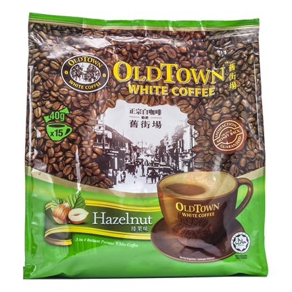 Old Town White Coffee 3 in 1 Instant Premix White Coffee with Hazelnut 40g x 15 sachets